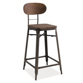 Barová židle LOPE ořech/grafit