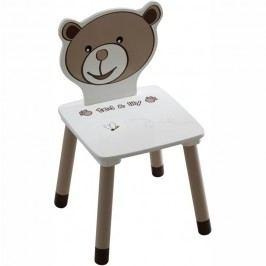 Dětská stolička, čokoládová / bílá, PUFF