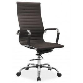 Kancelářská židle Q-040 hnědá