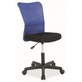 Kancelářská židle Q-121 černá/modrá