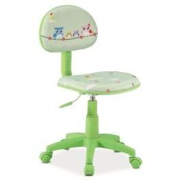 Kancelářská židle HOP 5 zelená/šedá