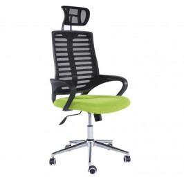 Kancelářské křeslo, síťka černá / zelená, FLORE