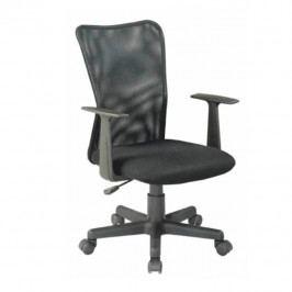 Kancelářská židle, látka černá + černá síťka, REMO