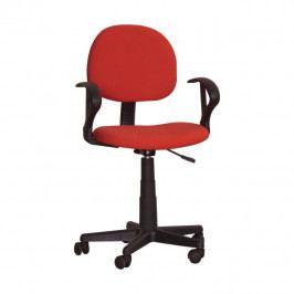 Kancelářská židle, červená, TC3-227