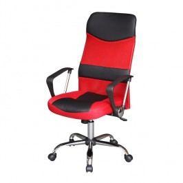 Kancelárske kreslo, čierno/červené, TC3-973M