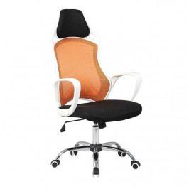 Kancelářská židle, bílá / oranžová, ARIO