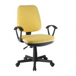Kancelářská židle, žlutá, COLBY