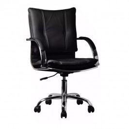 Kancelářské křeslo, ekokůže černá, QUIRIN