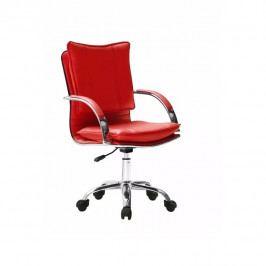 Kancelářské křeslo, ekokůže rudá, QUIRIN UT-C280
