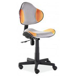 Kancelářská židle Q-G2 šedá/oranžová