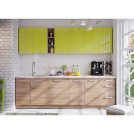 Kuchyně LENA 260 zelená/sonoma