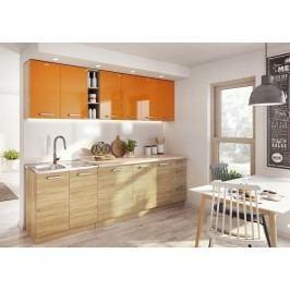 Kuchyně LENA 260 oranžová/sonoma