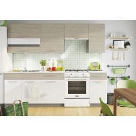 Kuchyně MIA 240 s WS80GRF/2 picard/bílý lesk