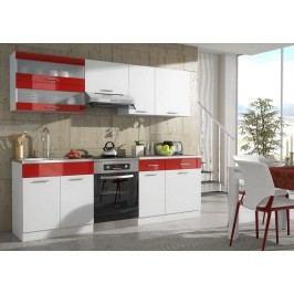Kuchyně CAMERON 240 bílá/červená