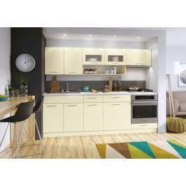 Kuchyně MORENO LUX 240 vanilka lesk