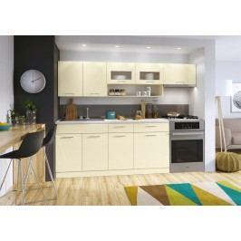 Kuchyně MORENO LUX 180/240 vanilka lesk