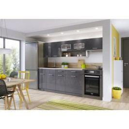 Kuchyně MORENO LUX 180/240 antracit lesk