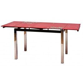 Jídelní stůl GD-017 rozkládací červený