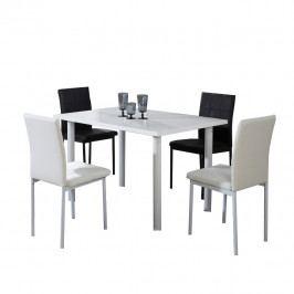Jídelní stůl, bílá, extra vysoký lesk, UNITA