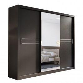 Šatní skříň IDEA 11 250 zrcadlo černá