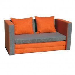 Rozkládací pohovka, oranžová, KATARINA NEW