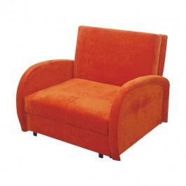 Rozkládací křeslo, s úložným prostorem, oranžová, MILI 1