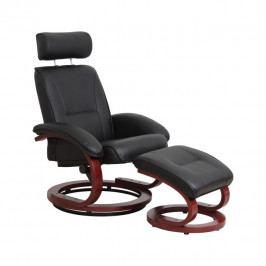 Relaxační křeslo, černý/třešeň, NIGEL