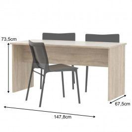 Oboustranný stůl, dub sonoma, JOHAN NEW 08