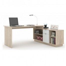 Kancelářský stůl, dub sonoma / bílá, DALTON NEW