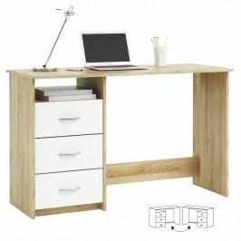 PC stolek, dub sonoma/bílá, LARISTOTE 101000