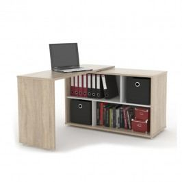 Rozkládací PC stůl, dub sonoma světlý, ASTON