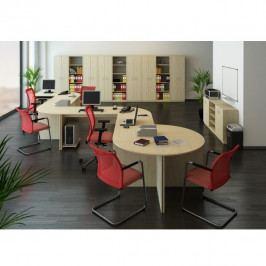 Psací stůl, dub sonoma, TEMPO AS NEW 021 PI