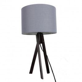 Stolní lampa, šedá / dřevo černé, LILA Typ 5