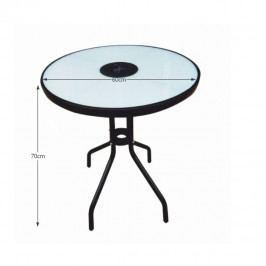 Jídelní stůl vhodný k zahradnímu setu, cen oceli / temperované sklo, OLIVAN
