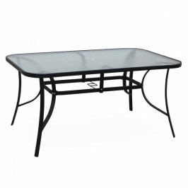 Jídelní stůl, tvrzené sklo / ocel, PASTER