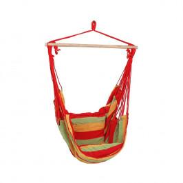 Závěsné zahradní křeslo červené/zelené/žluté