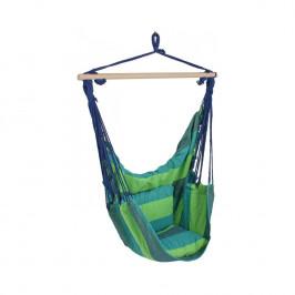 Závěsné zahradní křeslo modré/zelené