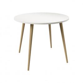 Jídelní stůl kulatý NORSK dub/bílá