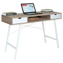 PC stůl 1409 dub/bílá
