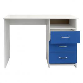 Psací stůl 44 modrá/bílá