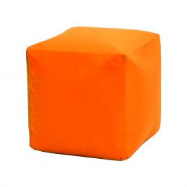 Sedací taburet CUBE oranžový V22