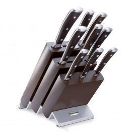 WÜSTHOF Sada nožů s blokem, vidličkou na maso a ocílkou 10dílná Ikon