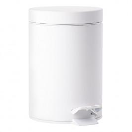 ZONE Pedálový odpadkový koš 3 l white SOLO