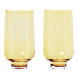 Blomus Set 2 skleniček FLOW matná zlatá 0,4 l