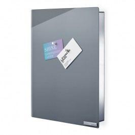 Blomus Skříňka na klíče s magnetickými dvířky VELIO šedá 40 x 30 cm