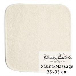 Christian Fischbacher Masážní ručník na ruce/obličej lněný 35 x 35 cm, Fischbacher