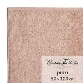 Christian Fischbacher Ručník 50 x 100 cm růžovobéžový Puro, Fischbacher