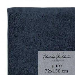 Christian Fischbacher Osuška 72 x 150 cm kobaltově modrá Puro, Fischbacher