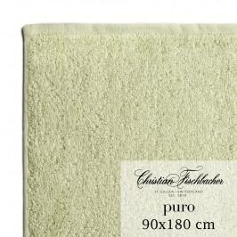 Christian Fischbacher Osuška 90 x 180 cm bledě zelená Puro, Fischbacher