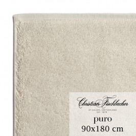 Christian Fischbacher Osuška 90 x 180 cm písková Puro, Fischbacher